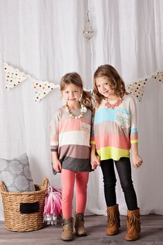 Ryleigh Rue Clothing by MVB - Girls Peach Stripe Crochet Pocket Top, $22.00 (http://www.ryleighrueclothing.com/tops/girls-peach-stripe-crochet-pocket-top.html/)