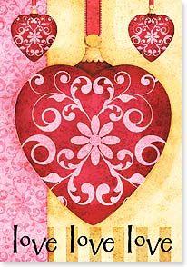 Valentine's Day Card - you you you  Happy Valentine's Day   Joy Hall   21668   Leanin' Tree