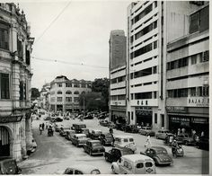 Title - Jalan Tun Perak / Year - 1950's / Location - Kuala Lumpur / Description - Jalan Tun Perak in the 1950s - Jalan Ampang is at the junction turning right.