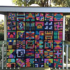 Day 11 for #patchworkparty by @corianderquilts is #quiltsinthewild and since I've already posted those for other prompts, I'll just post a wild quilt photographed in my backyard