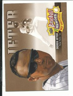 Derek Jeter New York Yankees Baseball Card 2010 Upper Deck Baseball Heroes 20th Anniversary Art