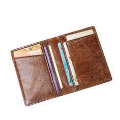 #AdoreWe #NewChic NewChic Genuine Leather Card Bag Anti-magnetic RFID Anti-theft Credit Card Bag Driver's License Bag - AdoreWe.com