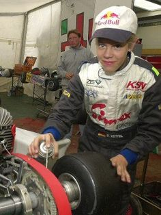 Little Vettel :) Now at 27 he is a 4 time World Champion!!
