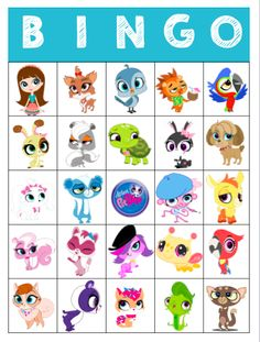 Littlest Pet Shop Bingo Animal Party, Lps, Pet Shop, Bingo, Scooby Doo, Party Time, Birthday, Masks, Party Ideas