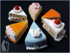 Cakes available on my stores and on commission! Polymer Clay Assorted Cakes by Talty.deviantart.com on @deviantART