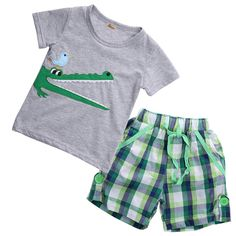 2017 New Cute Fashion Toddler Baby Kids Boys Summer Clothes Tops T-shirt Pants Outfits Set Size 2T-7T #Affiliate