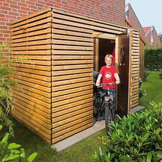 Fahrradschuppen selber bauen: Anleitung mit Bauplan