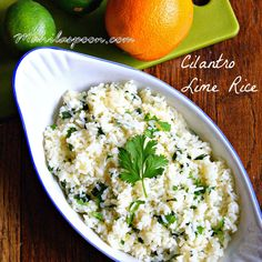 CHIPOTLE COPYCAT CILANTRO LIME RICE - flavored with a combo of citrus fruits this yummy rice is a huge favorite in our house! It tastes as good as the original!