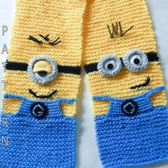 Minion Scarf Knitting Pattern