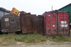 Russian Far East Lavrentiya - leftover containers