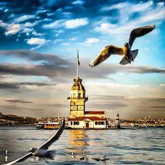 """564 Likes, 4 Comments - Müslüm Baba Anısına (@muslumbabadan) on Instagram: """"Kız Kulesi / Istanbul"""""""