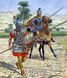 Pezetero (falangita d'elite) e Etairos (cavaliere dei Compagni), IV-III secolo a.C.