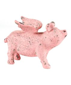Pink Flying Pig Figurine | Daily deals for moms, babies and kids