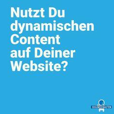Was ist eigentlich dynamischer Content?  Dynamischer Content auf Websiten, sind die automatisch angepassten Inhalte durch bereits vorher definierte Bedingungen. Der Webseiteninhalt passt sich also automatisch an das Nutzerverhalten jedes Einzelnen an.  #deinemarke #dynamiccontent #marketing #munich #business #tipsundtricks  #seo