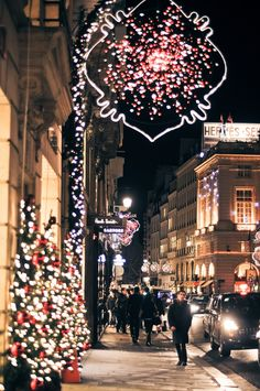 Nothing feels more like Christmas than a nice stroll down the lit streets of a busy city.