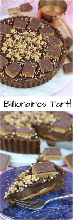 ❤️ A Chocolate Biscuit No-Bake Base, with a Caramel Layer, and a Gooey Chocolate Ganache Filling with Miniature Millionaires Shortbread Bites!Soo delicious🍫 x Tart Recipes, Sweet Recipes, Baking Recipes, Cookie Recipes, Dessert Recipes, Yummy Treats, Sweet Treats, Yummy Food, Chocolate Ganache Filling