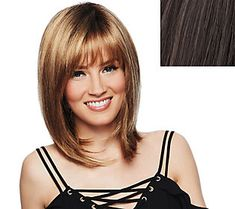 by Jessica Simpson & Ken Paves So Voluminous Mid Length Textured Fringe Cut Wig Hairdo. by Jessica Simpson & Ken Paves So Voluminous Mid Length Textured Fringe Cut Wig Messy Bob Hairstyles, Medium Bob Hairstyles, Trending Hairstyles, Weave Hairstyles, Mommy Hairstyles, Layered Hairstyle, Hairdos, Hairstyles Haircuts, Medium Hair Styles