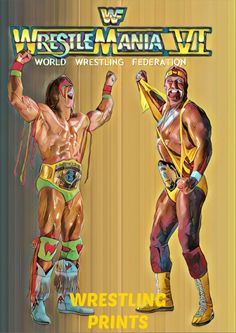 WWF WWE ULTIMATE WARRIOR A4 PRINT 230GSM RETRO HASBRO POSTER WALL ART