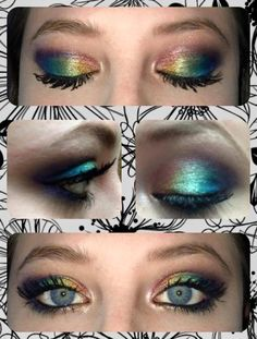 Younique skittles look. Browse many more looks on my Younique page. www.youniqueproducts.com/SabrinaDrew  Finish it off with 3D fiber lash mascara! Share this look with your friends so they can LIKE it as much as you do!! #makeup #younique