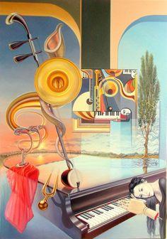 Intermezzo by Gyuri Lohmuller, 2014. Oil on canvas, 100 x 70 cm.