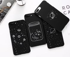 These Galaxy phone cases are new to our store and are available in four dreamy designs find them at www.notebooktherapy.com #notebooktherapy