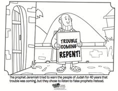 Jeremiah - Bible Coloring Pages | What's in the Bible?