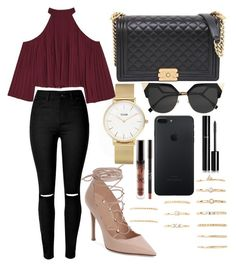 """""""188."""" by plaraa on Polyvore featuring Chanel, CLUSE, W118 by Walter Baker, Valentino, Forever 21 and Fendi"""