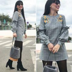 mini vestido - Temporada: Primavera-Verano - Tags: look, ootd, fashion, moda, stardivariusblog - Descripción: vesyido mini con mangas abullonadas #FashionOlé