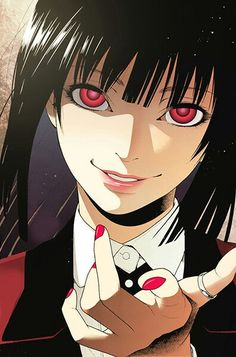Character is Jabami Yumeko from the manga Kakegurui. Jabami the Gambling Queen (manga coloring) M Anime, Yandere Anime, Girls Anime, Anime Art Girl, Animes Wallpapers, Aesthetic Anime, Anime Characters, Character Art, Illustration Art