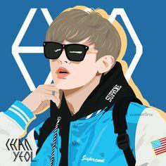 Chanyeol  #exo #chanyeol #parkchanyeol #exofanart #fanart #vector #vectorart #illustration #art