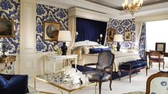 Dormitorio de la Suite Presidencal -   Four Seasons - Hotel George V - Paris