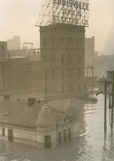 Louisville Gas and Electric from the Municipal Bridge (now the Clark Memorial Bridge)