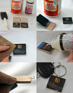 Hunger Games: Necklace charms or keychain charms.  GREAT tutorial.