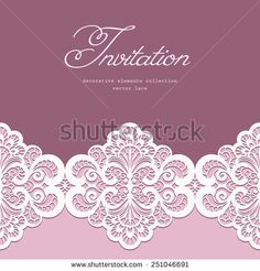 Wedding invitation or greeting card with white lace on gray wedding invitation or greeting card with white lace on gray background pinterest white lace vector art and royalty stopboris Images