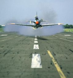"""PZL TC-130 """"ORLIK"""" COMING STRAIGHT AT YOU - LOW ON THE RUNWAY - POLISH AIR FORCE"""