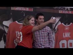 Andrew Shaw got chatty with some #Blackhawks fans during his photo session at #BHC2013.