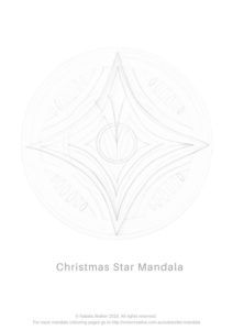 Inner Creative Christmas Star Mandala Colouring Page. Click to get your own free copy. Coloring page for grown ups Coloring Pages For Grown Ups, Mandala Coloring Pages, Christmas Star, Colouring, How To Draw Hands, Seasons, Creative, Free, Hand Reference