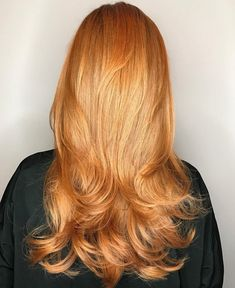 40 Picture-Perfect Hairstyles for Long Thin Hair - Long Strawberry Blonde Hairstyle With Layers - Long Thin Hair, Long Hair Cuts, Long Cut, Soft Hair, Shiny Hair, Dark Hair, Brown Hair, Straight Hairstyles, Cool Hairstyles