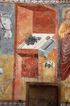 Bergamo, Basilica di S. Maria Maggiore - Storia di Sant'Eligio - ambito lombardo - affresco - 1340-1360