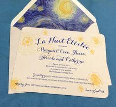The invitation to La Nuit Étoilée honoring five debutantes in New Orleans, June 12, 2014. #debutantes2014 #invitations Via nola.com/society