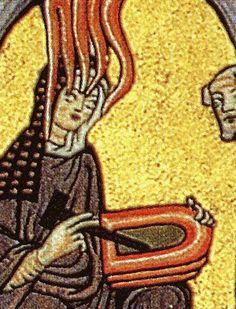 Hildegard 464x672crop - دور النساء في العصور الوسطى بأوروبا - Hildegard of Bingen تلقي الوحي الإلهي