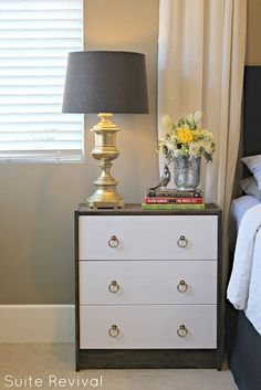 DIY Two Toned Ikea Rast Dresser