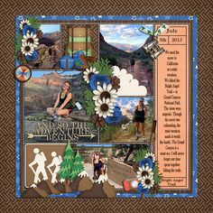 Bright angel trail Created using: Summer Fun: On The Trail | Bundle by LJS Designs http://shop.thedigitalpress.co/Summer-Fun-On-The-Trail-Bundle.html and stitched down vol 4 templates  by LJS designs http://shop.thedigitalpress.co/Stitched-Down-4-Templates.html
