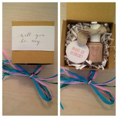 Creative and cute way to ask your made of honor to be in your wedding party!