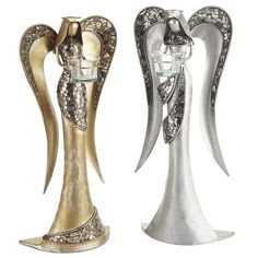 Pier 1 Angel Tealight Holders are here to bring soft, tranquil light into your home this season/ Love them