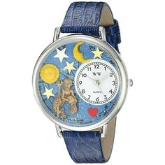 Whimsical Unisex #Aquarius Royal Blue Leather Watch. #zodiac #blue