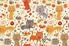 Julia Grigorieva | pattern with cats