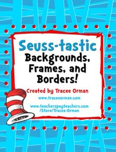 Are you looking for cute backgrounds and borders for your Dr. Seuss-themed worksheets, products, or scrapbook pages? Look no further!This bundl...