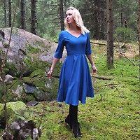 Retroklänning 50-tal Linnea Röd- Odd-Living.com