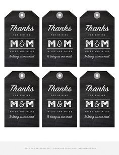 Mailman Gift Jar Tags - simple as that